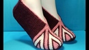 419 ШИКАРНЫЕ ТАПОЧКИ СПИЦАМИ ЧАСТИЧНЫМ ВЯЗАНИЕМ. МАСТЕР КЛАСС. Knitted slippers. Master class
