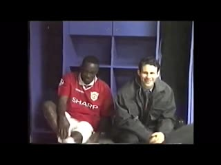United dressing room after the juve semi final 99