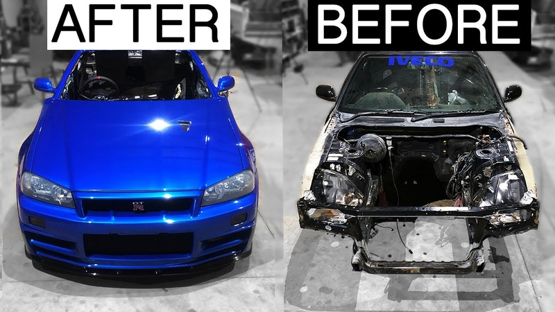 BUILDING A R34 SKYLINE body in MINUTES Poor Man's GTR EP15