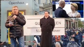"""Hier geht es um The Great Reset"" /  Hauptkommissar Michael Fritsch - , Querdenken Hannover"