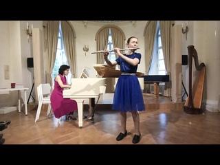 """В. Цыбин """"Ноктюрн"""" Исп. Мария Мокринская (флейта), Ольга Бер (фортепиано)"""