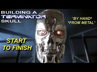 Hand building a Terminator T800 skull start to finish - compendium