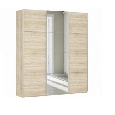 Шкаф Прайм 3-дверный (ДСП/Зеркало) ш 2100