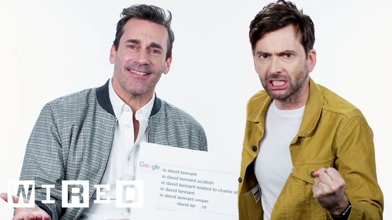 Jon Hamm David Tennant Answer the Webs Most Searched Questions | WIRED