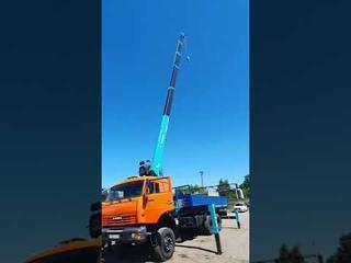 23 метра стрела, проверка новой КМУ Hyundai HKTC 8016 Shorts