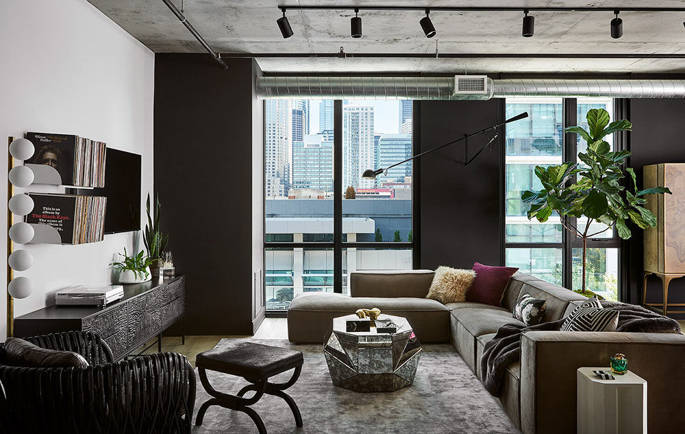 Стильная квартира в индустриальном стиле в Чикаго