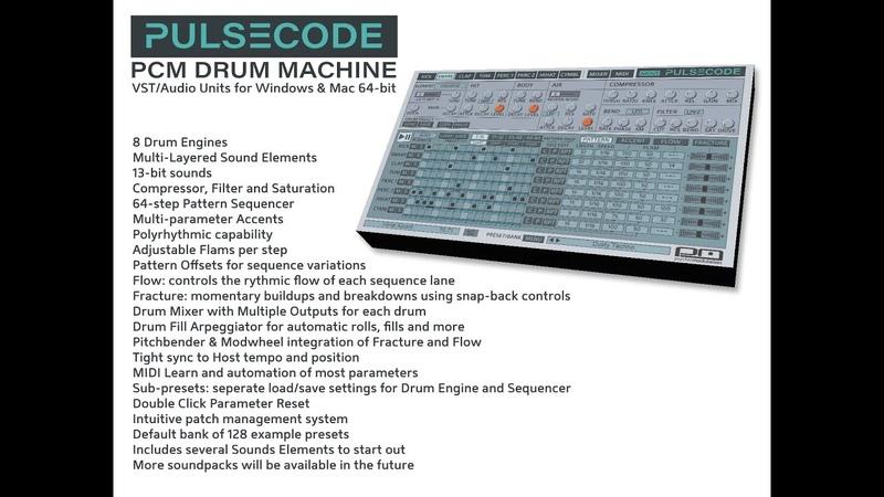 PulseCode - PCM Drum Machine