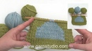 How to knit with 3 skeins at the same time.