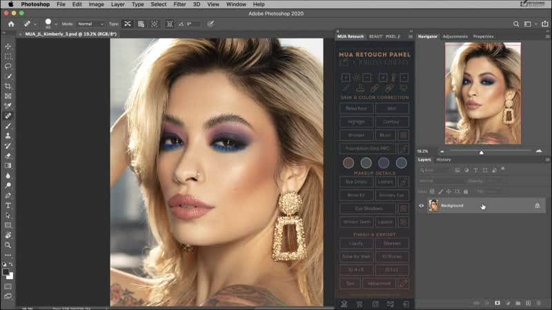Panel Overview MUA Retouch Panel