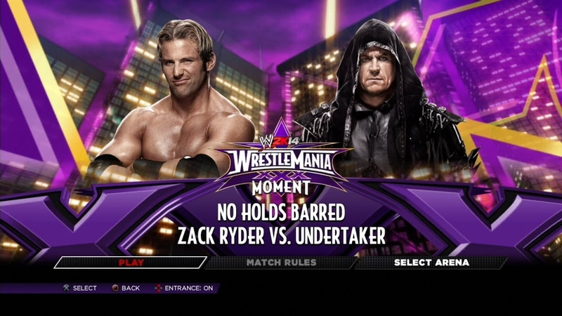 WWE 2K14 PS3 Gameplay Defeat The Streak Zack Ryder No Weapon 60FPS FullHD
