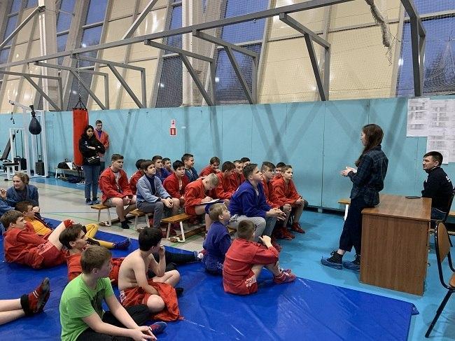 Лекция об антидопинге состоялась в спортивной школе на 1-й Вольской