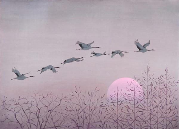 улетающие птицы рисунки обычном состояние