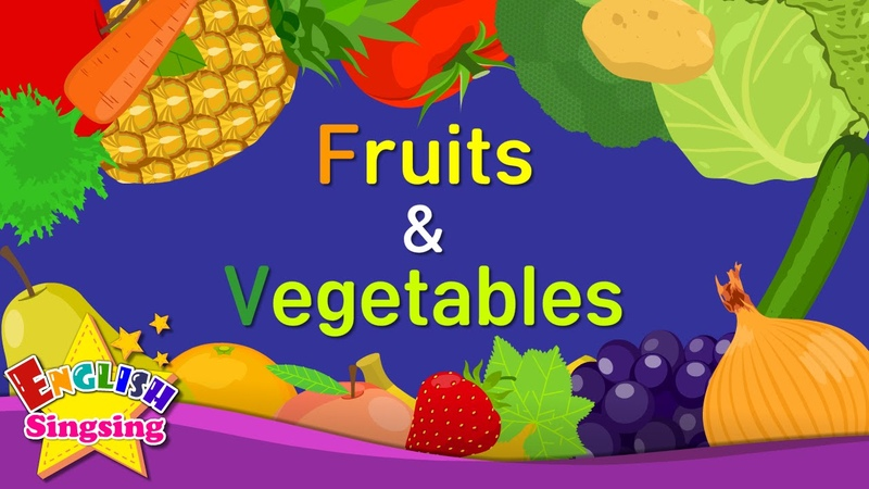 Kids vocabulary Fruits Vegetables 1 Learn English for kids English educational video