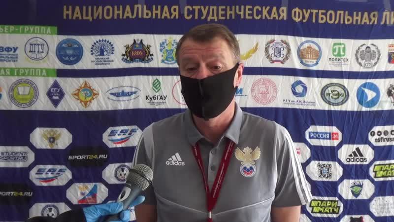 Известный футбольный арбитр Юрий Баскаков Уровень студенческого футбола сравним с ПФЛ