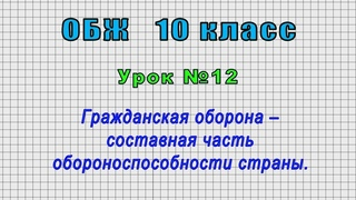 ОБЖ 10 класс (Урок№12 - Гражданская оборона – составная часть обороноспособности страны.)