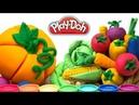 Как слепить овощи и фрукты из пластилина плей до.Сделать пластилиновые овощи для детей Play doh