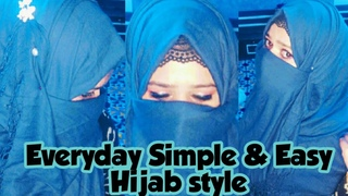 Everyday  Hijab Tutorial with full coverage ।  simple hijab Tutorial with inner cap।