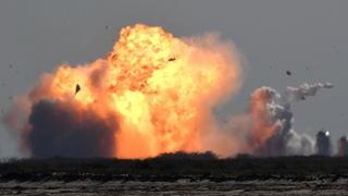 Прототип корабля Starship взорвался после посадки
