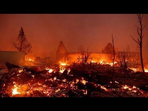 Калифорния лесные пожары уничтожают целые города California forestfire Greenville