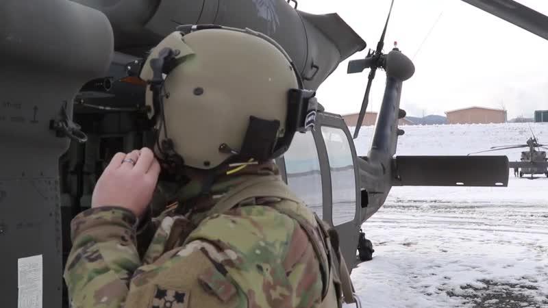 BROLL 3-4 AHB Aerial Gunnery NOVO SELO, BULGARIA 11.01.2019