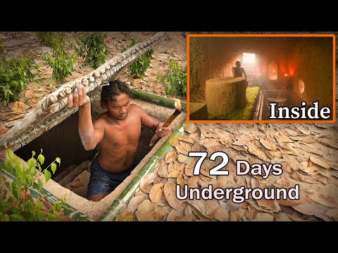 72 Days In Jungle Building Hidden House - Full Video