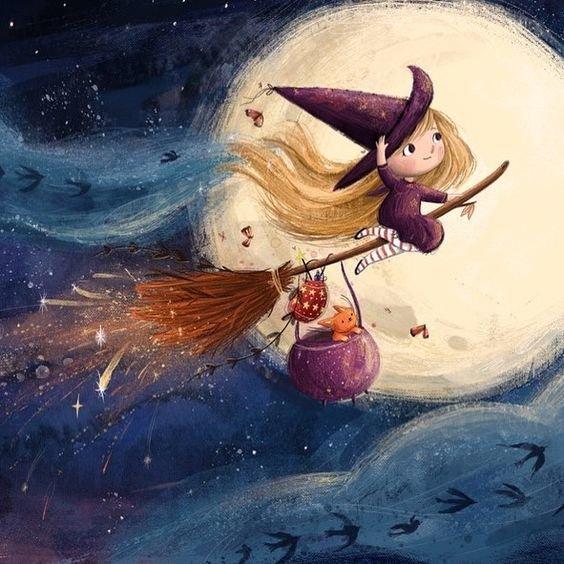 Секрет полетов ведьмы Октябрь пришел внезапно. Заполненный дождями, туманами и опавшей листвой он шнырял по дорогам и дворикам, шаловливо крутя флюгеры и барабаня ветками в окна. Ведьма сидела в