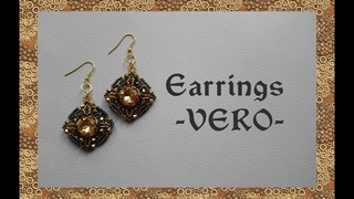 Tutorial No. 8 - Earrings VERO - With 12 mm pillow square rhinestone