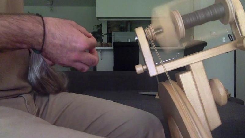 Moon Scarf Spinning a Yak Silk Single