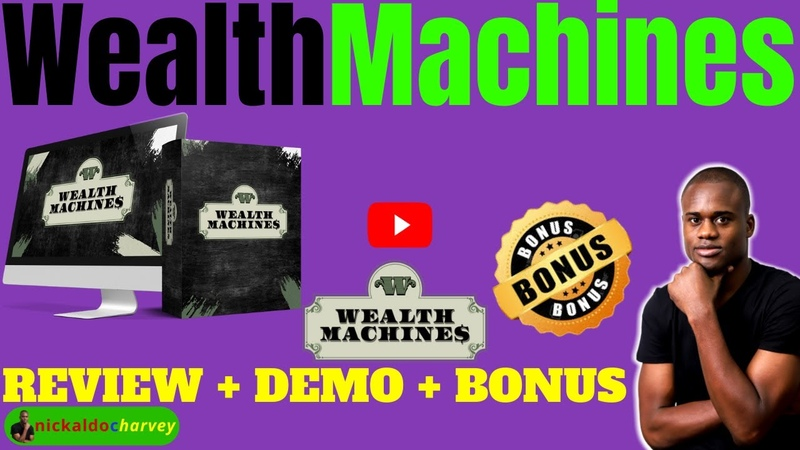Weath Machines Review Demo Bonus DFY Sales Funnels With Products From Top Trending Niches