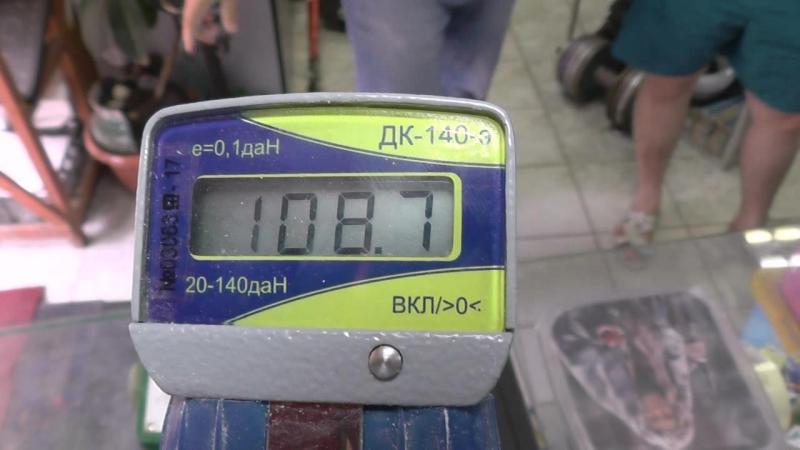 Анатольевич проверяет динамометрию на ДК-140э от Кости Ягодкина