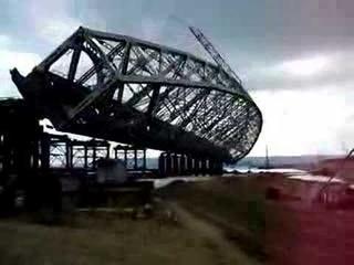 Falling of the Ulyanovsk bridge element